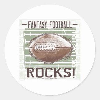 ¡Rocas del fútbol de la fantasía! Pegatina