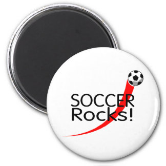 Rocas del fútbol imán redondo 5 cm