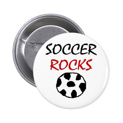Rocas del fútbol pin redondo 5 cm