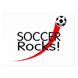 Rocas del fútbol postales