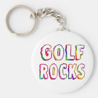 Rocas del golf llavero redondo tipo pin