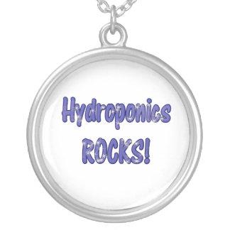 ¡Rocas del hidrocultivo! Diseño basado texto del a Colgante Redondo
