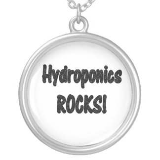 ¡Rocas del hidrocultivo! Diseño negro del texto de Colgante Redondo