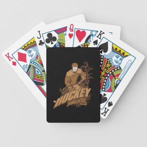 Rocas del hockey baraja cartas de poker