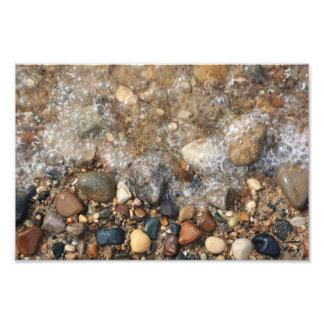 Rocas del lago Michigan en el agua, caza de la Fotografía