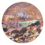 Rocas del lago platos de comidas