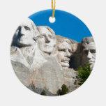 ¡Rocas del monte Rushmore! El monte Rushmore, Adorno Navideño Redondo De Cerámica