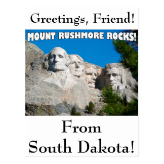 ¡Rocas del monte Rushmore! El monte Rushmore, Postal