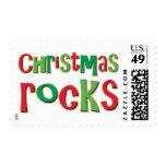 Rocas del navidad en rojo y verde sello
