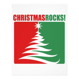 ¡Rocas del navidad! Folleto 21,6 X 28 Cm