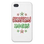 Rocas del navidad iPhone 4 protector