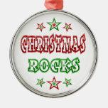 Rocas del navidad ornamentos para reyes magos