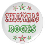 Rocas del navidad plato de comida