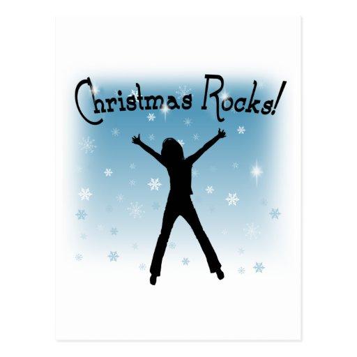 ¡Rocas del navidad! Tarjeta Postal