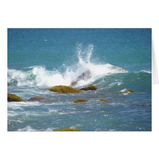 Rocas del océano en el Block Island Tarjeta De Felicitación