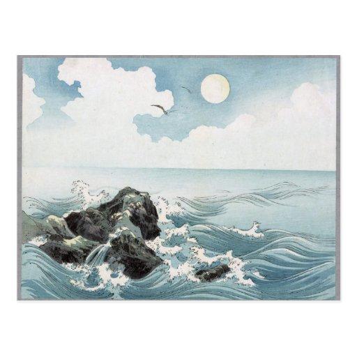 Rocas del océano postales
