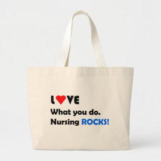 Rocas del oficio de enfermera; Amor qué usted lo h Bolsa Tela Grande