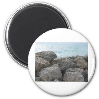 Rocas del puerto franco imán redondo 5 cm