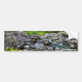 Rocas del río pegatina de parachoque