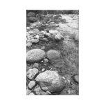 Rocas del río impresión de lienzo
