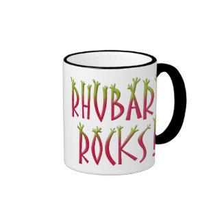 Rocas del ruibarbo taza de dos colores
