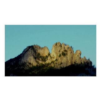 Rocas del Seneca, Virginia Occidental Poster