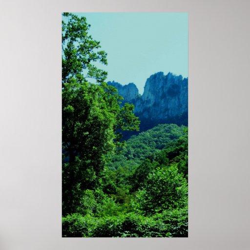 Rocas del Seneca, Virginia Occidental Póster