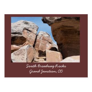 Rocas del sur de Broadway, Grand Junction, postal