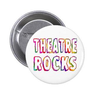 Rocas del teatro pin redondo de 2 pulgadas