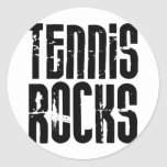 Rocas del tenis etiquetas redondas