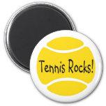Rocas del tenis iman de frigorífico