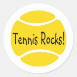 Rocas del tenis pegatina redonda