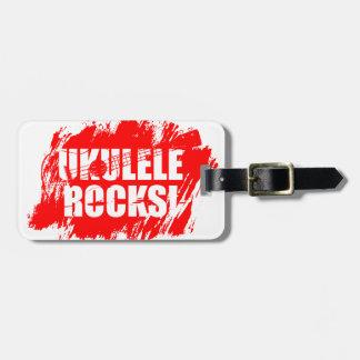 ¡Rocas del Ukulele! Etiquetas Para Maletas