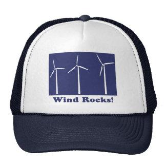 Rocas del viento gorros bordados