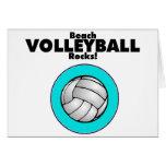 Rocas del voleibol de playa felicitación