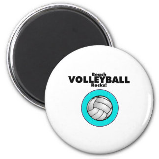 Rocas del voleibol de playa imán redondo 5 cm