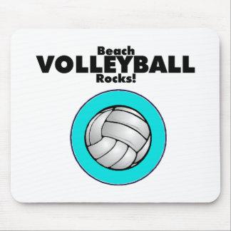 Rocas del voleibol de playa alfombrillas de ratón