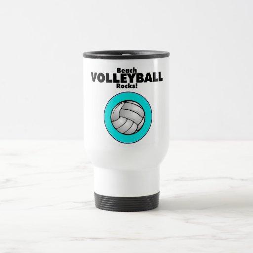 Rocas del voleibol de playa taza de viaje de acero inoxidable