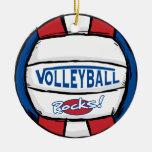 Rocas del voleibol ornamentos de reyes