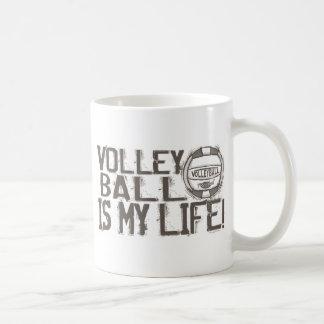 Rocas del voleibol taza clásica