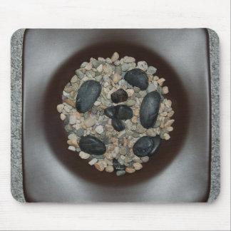 Rocas en cojín de ratón del cuenco tapete de ratones