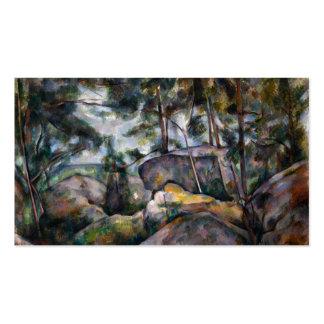 Rocas en el bosque - Paul Cézanne Tarjetas De Visita