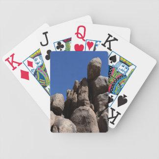 Rocas en el parque nacional de la yuca baraja de cartas bicycle