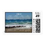 Rocas en la playa; Calendario 2012