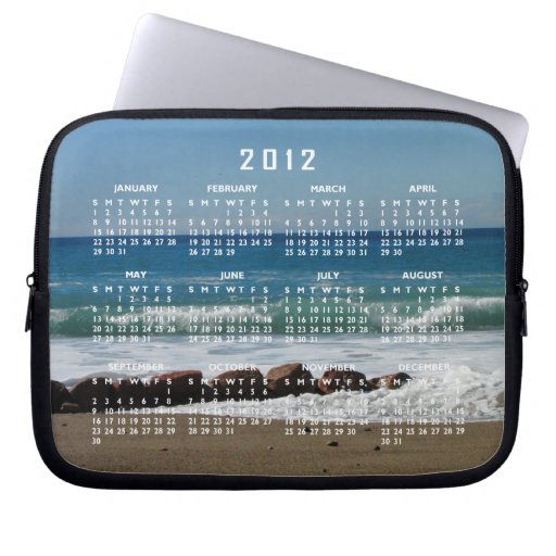Rocas en la playa; Calendario 2012 Fundas Ordendadores