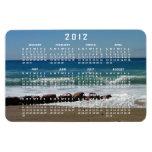 Rocas en la playa; Calendario 2012 Imanes