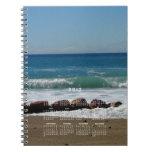 Rocas en la playa; Calendario 2012 Libro De Apuntes Con Espiral
