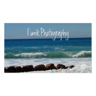 Rocas en la playa tarjeta de visita