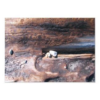 Rocas en registro invitación 12,7 x 17,8 cm