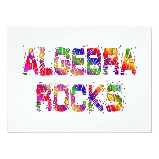 Rocas enérgicas de la álgebra invitación 13,9 x 19,0 cm